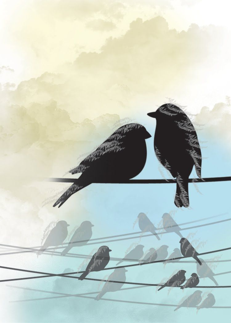 two birds on a wire - Google Search | tattoos | Pinterest | Nest and ...