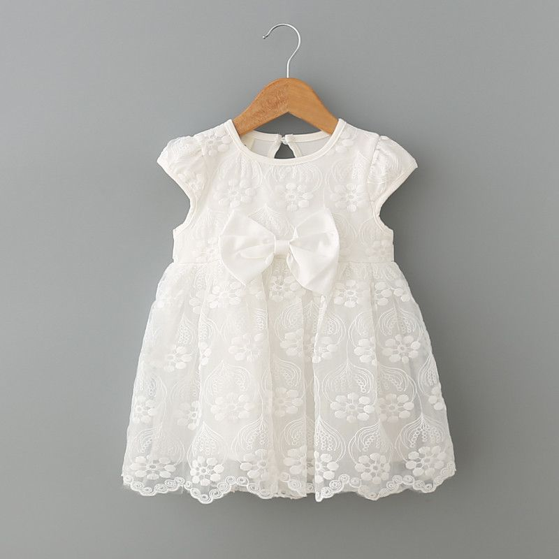 89f6afec1f827 Little Princess Infant Baby Girl White Lace Dress | Ready-To-Go ...
