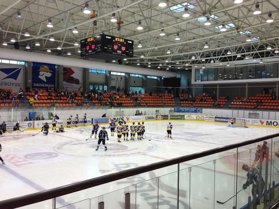 The Olympic Size Ice Rink Was Built By Ice Business Gmbh In Accordance With The Iihf Regulations Ice Rink Hockey Arena Ice
