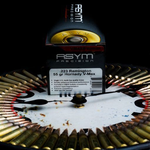 The V-Max projectile was built to be a match grade round that produces exceptional expansion at all velocities as well as having an extremely flat trajectory. With this load you can conduct varmint hunting and expect to achieve consistent expansion out to 500 yards. Combine that with premium powders, virgin Lake City brass, and premium USA made OEM primers and you have a winning combination for all our rifles needs.