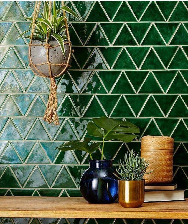 Geometric Shapes Backsplash Kitchen Design Decorating