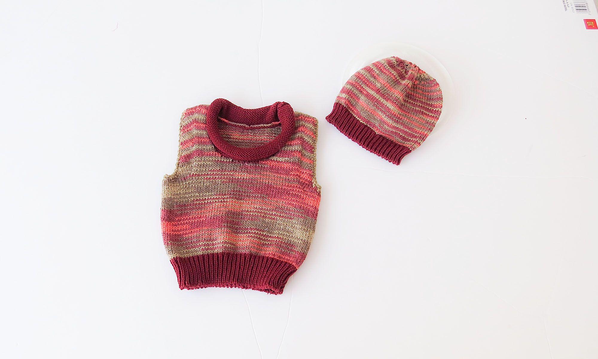 Photo of Neugeborene Weste und Het-Set, Baby Strickweste, Baby Strickmütze, Baby erste O…