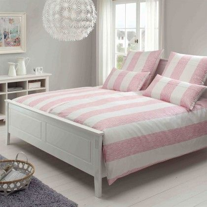 elegante mako satin bettw sche bridge ros 200x220 cm 2x 80x80 cm online shopping. Black Bedroom Furniture Sets. Home Design Ideas