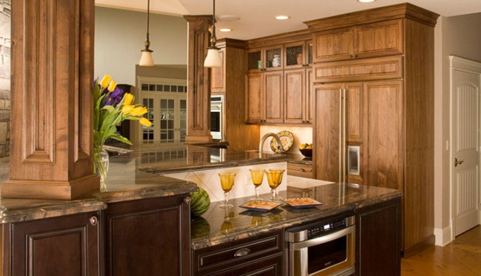Best Park Avenue Walnut Natural 1900 Series Kitchens 400 x 300