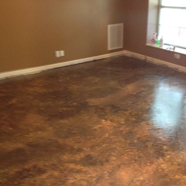 Painted Concrete Floors Diy: Painted Concrete Floor! It Turned Out Great!