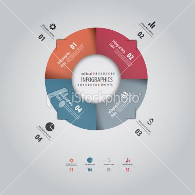 Minimal infographics design. Vector Royalty Free Stock Vector Art Illustration