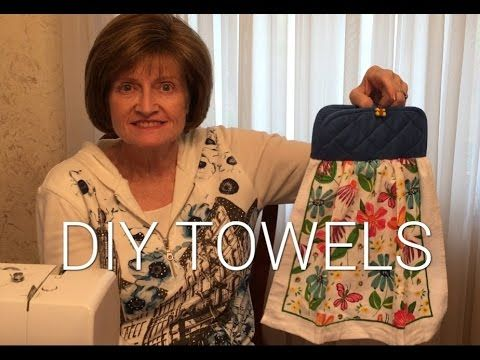 DIY Hanging Kitchen Towels - YouTube | SEWING PROJECTS