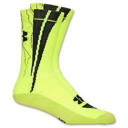 Women's Under Armour Dagger Bolt Crew Socks | FinishLine.com | High Vis  Yellow/