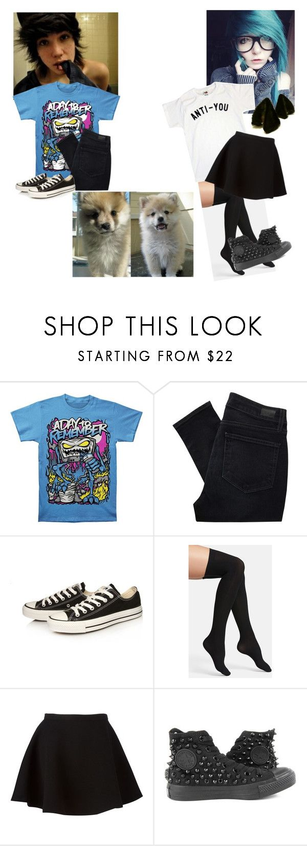 """OOTD~ Sam & Cameron"" by killerkat-cl ❤ liked on Polyvore featuring Paige Denim, Converse, Commando and Neil Barrett"