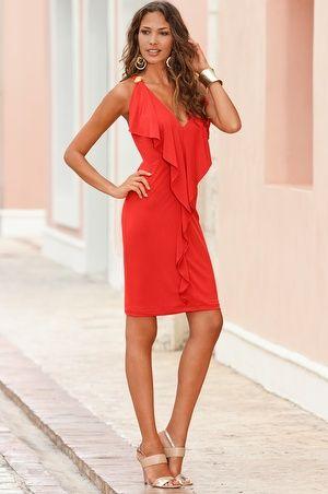 Dresses & Skirts - Boston Proper Cascade front love the color