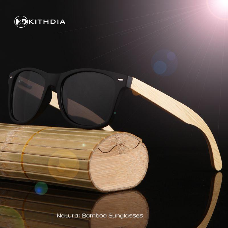 b989004d724 KITHDIA Vintage wood Sunglasses Men Women Classic Brand Designer UV400 bamboo  SunGlasses Colorful Coating Mirror Points