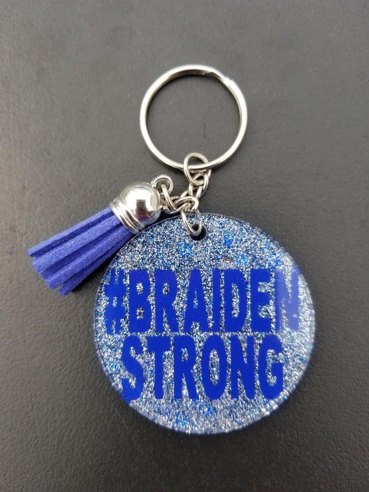 Custom acrylic keychains with epoxy and glitter acrylic