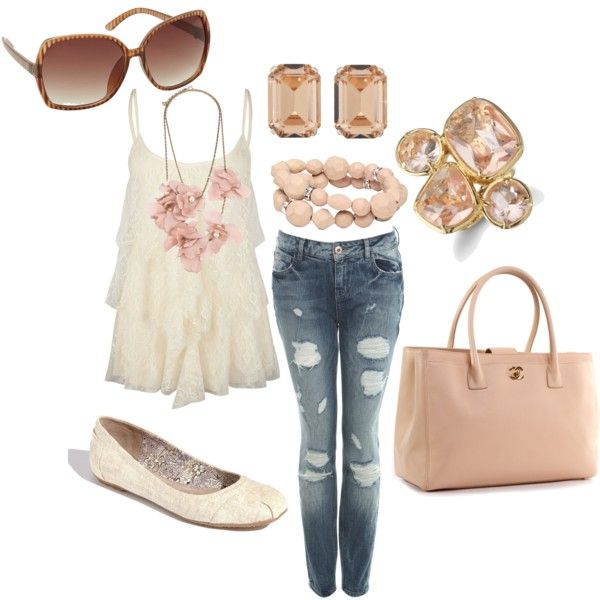 my weekend girly casual outfit, created by juarezcourtney ...