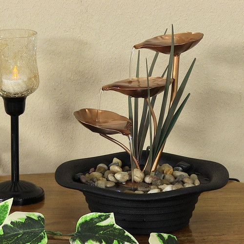 3 Leaf Cascading Tabletop Fountain Decoration Piece Tabletop