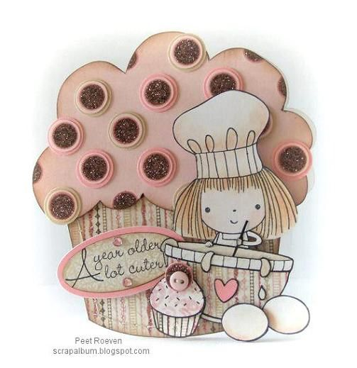 Lovely cupcake card