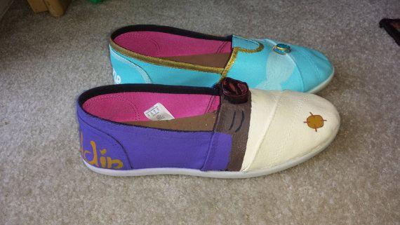 Toms y zapatos Disney Aladdin y Jasmine