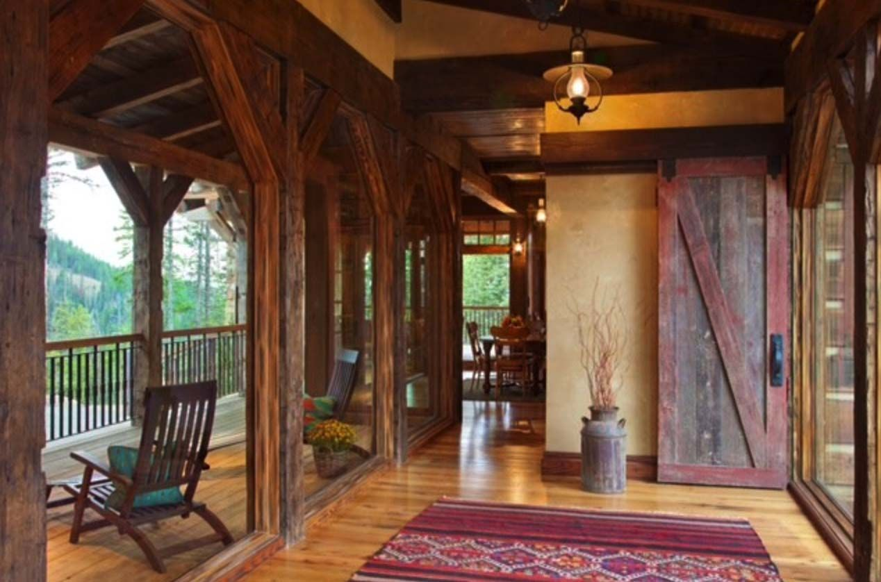 Stone and timber mountain dream home in Big Sky, Montana