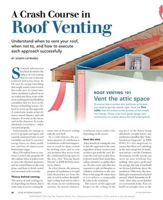 Pa 1101 A Crash Course In Roof Venting Roof Vents Roof Roof Repair