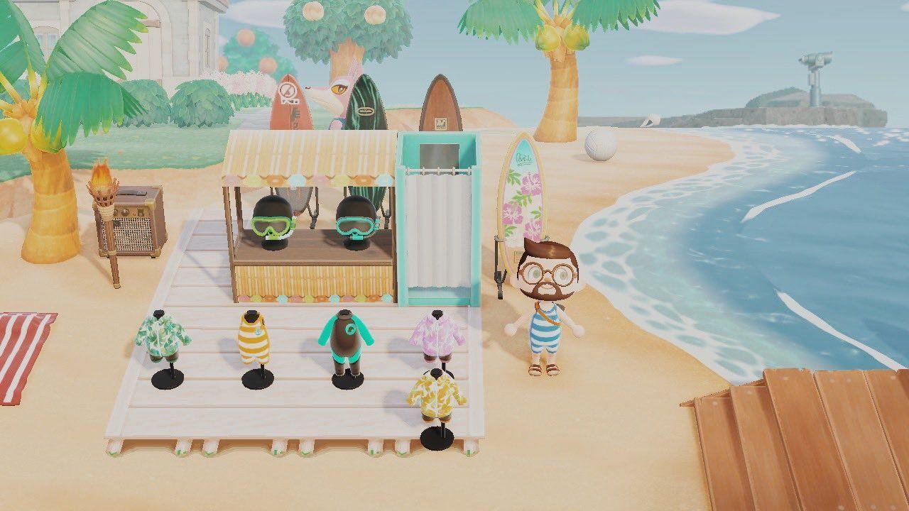 Robert On Twitter Animal Crossing Dive Shop Surfing