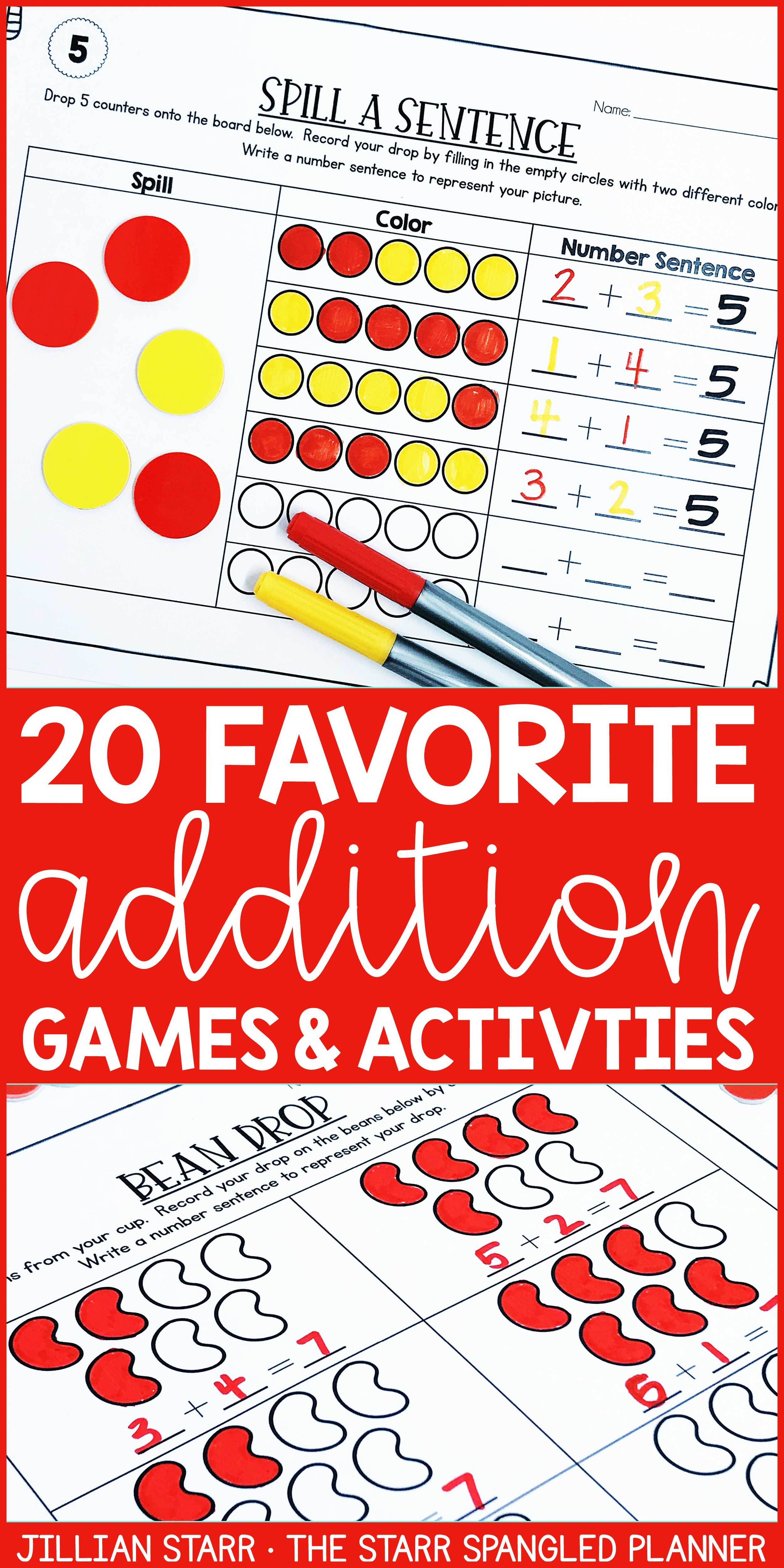 Addition Fact Fluency To 20 Worksheet