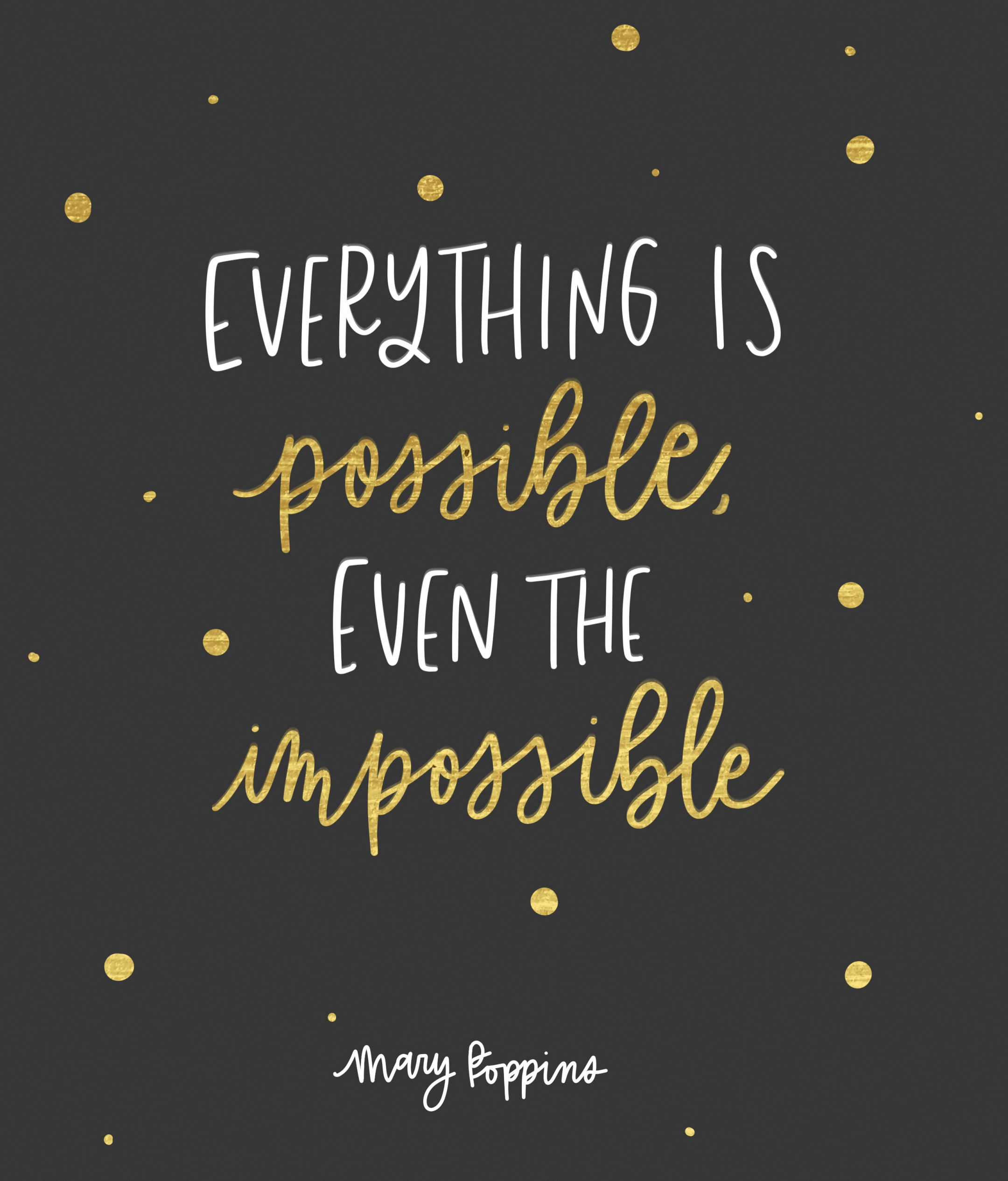 Everything Is Possible Even The Impossible Mary Poppins Returns Quotes From Mary Poppins Returns Mary Poppins Inspirational Quotes Disney 15th Quotes Quotes