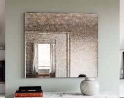 Smokey Mirror Antique Mirror European Antiques Antique Mirror Wall