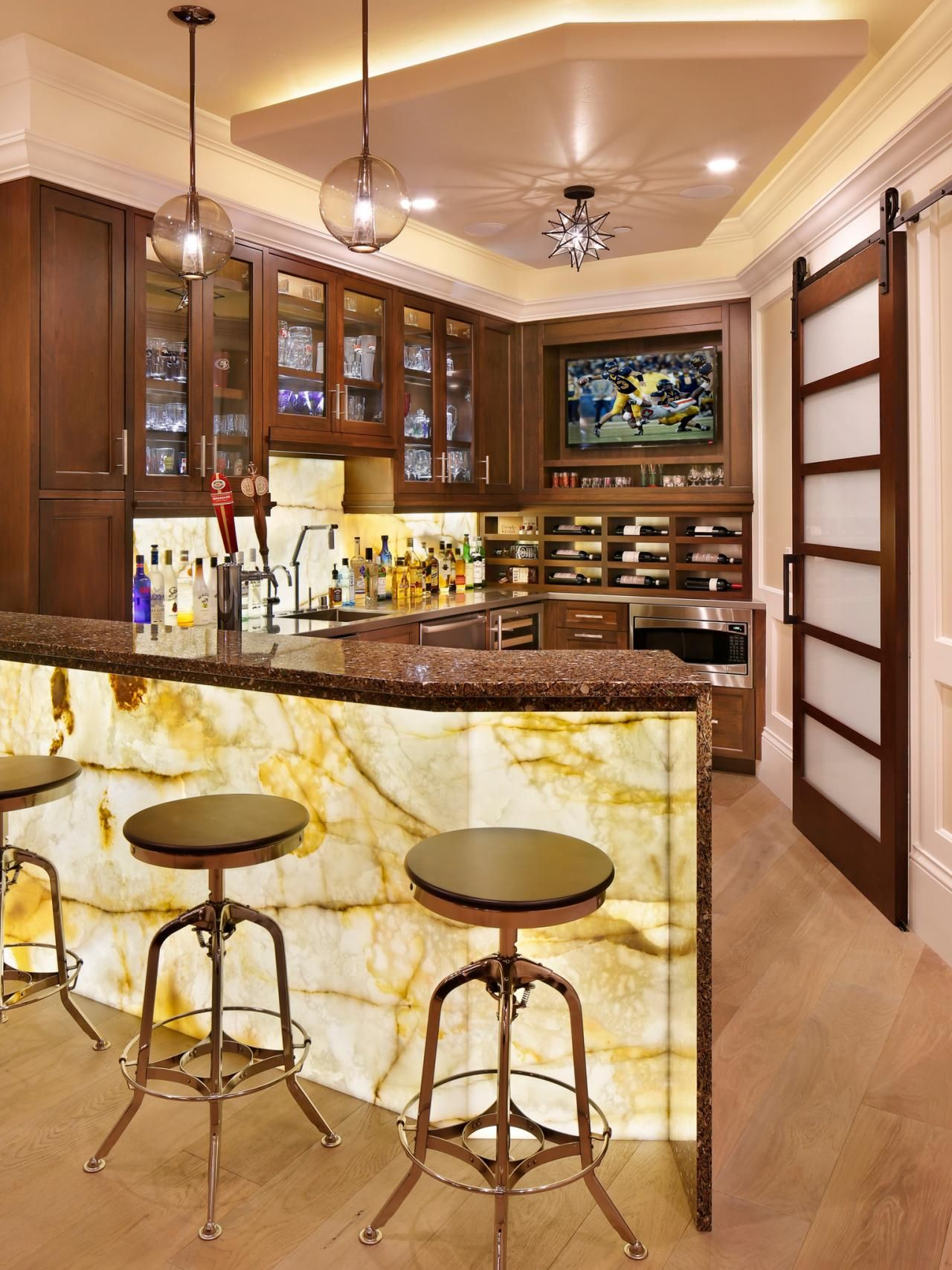 basement sports bar ideas. Dad Got The Sports Bar He Craved, Wrapped In Stylish And Sophisticated Style Mom Desired For Space. Basement Ideas N