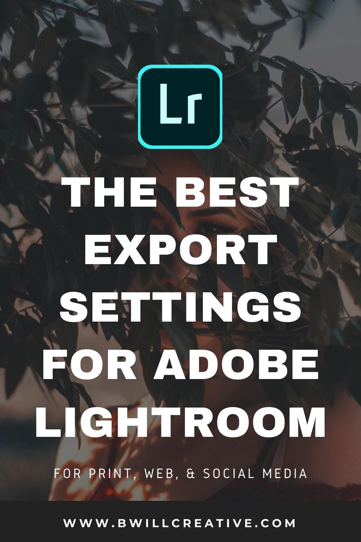 Best lightroom export settings for instagram 2019