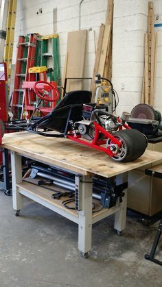 Rear view of custom built Scorpion 3 wheeled go kart showing wide back tire.