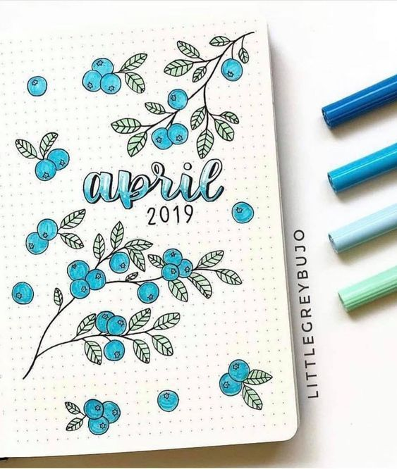 36 ideas para portadas de cada mes | Bullet Journal