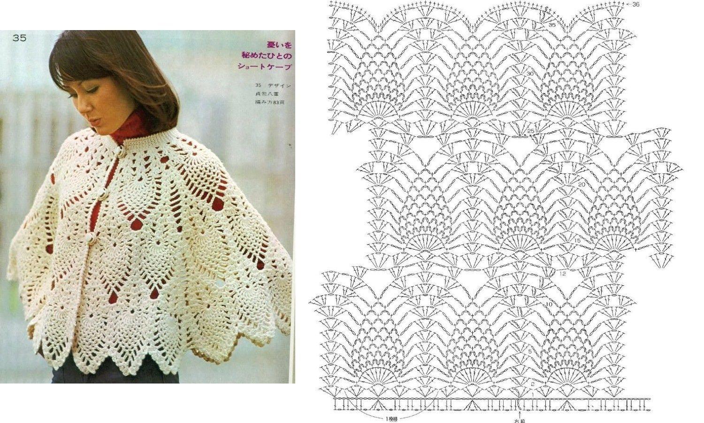16 CAPAS PONCHOS MAÑANITAS PARA TEJER A CROCHET | Crochet y costura ...