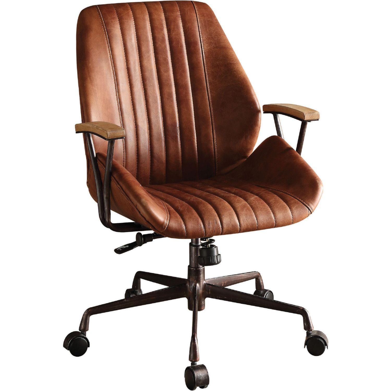 Acme Hamilton Executive Office Chair Cocoa Top Grain Leather