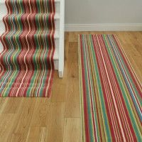 Pink Green Stripe Stair Carpet Runner Rug Lima | The Rug House ...