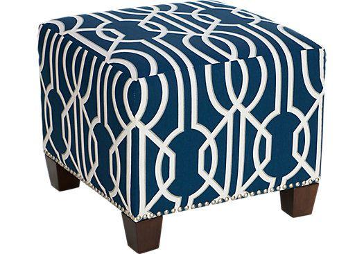 Ottomans Rooms To Go Delana Navy Deco Ottoman 30058235 Ottoman Navy Blue Furniture Navy Furniture