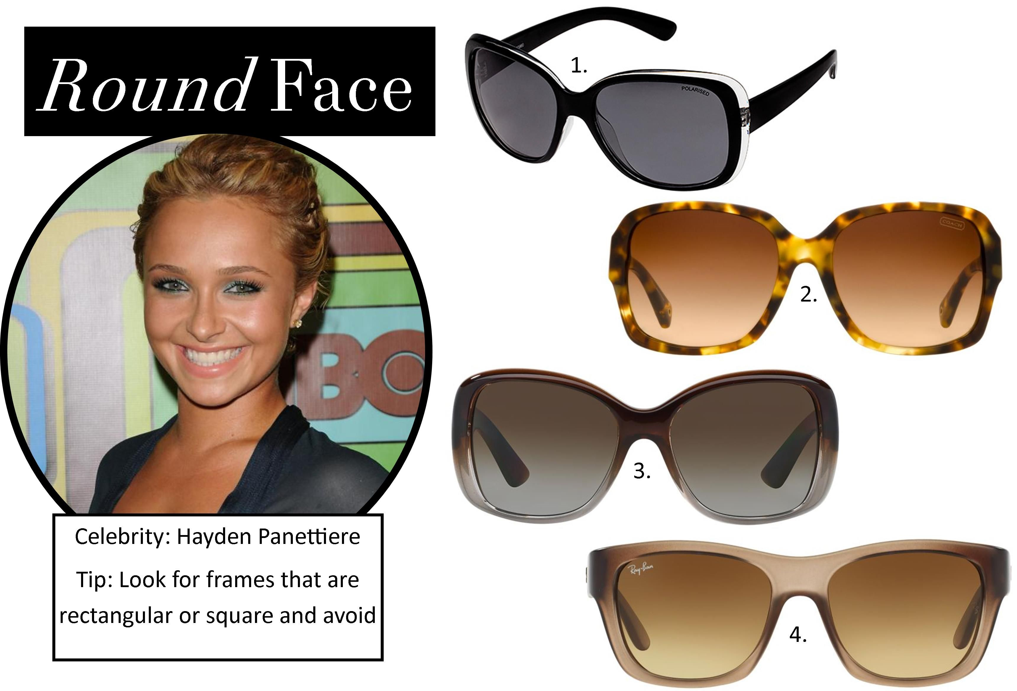 Sunglasses The Best Styles For Your Face Shape Visit Perth City Round Face Shape
