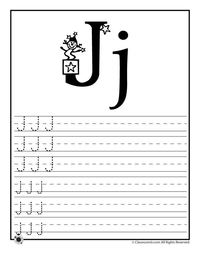 learning abcs worksheets learn letter j classroom jr
