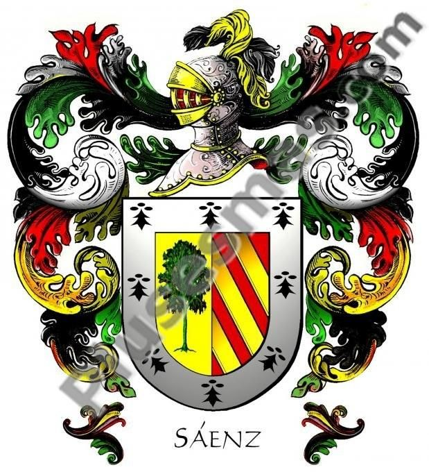 So, this is my family! Escudo del apellido Sáenz http ...