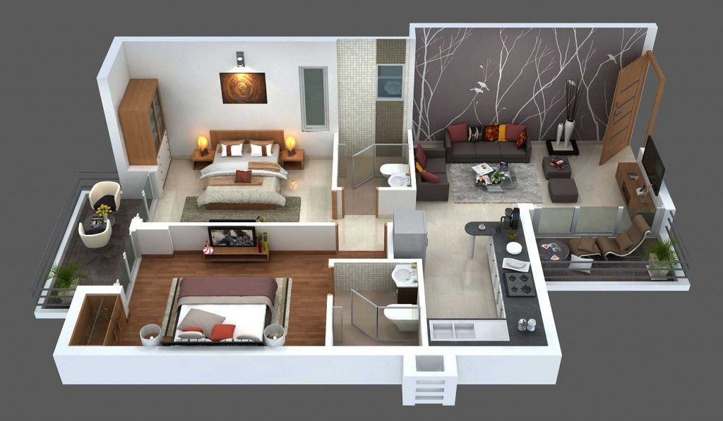 Apartment Floor Plan | Floor Plans and Decoration Ideas for Sims ...