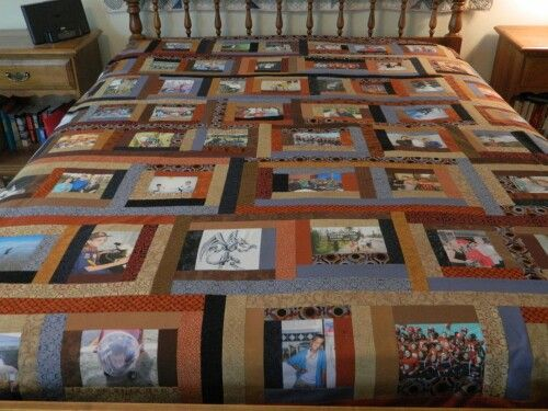 Photo Memory Quilt Made For High School Graduation