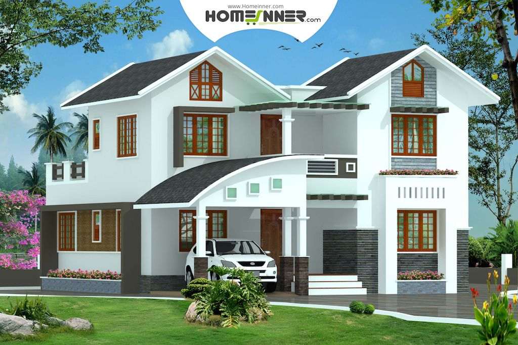 Kerala Style 4 Bhk 1950 Sq Ft Modern Home Design House Plans With Photos Kerala House Design Model House Plan