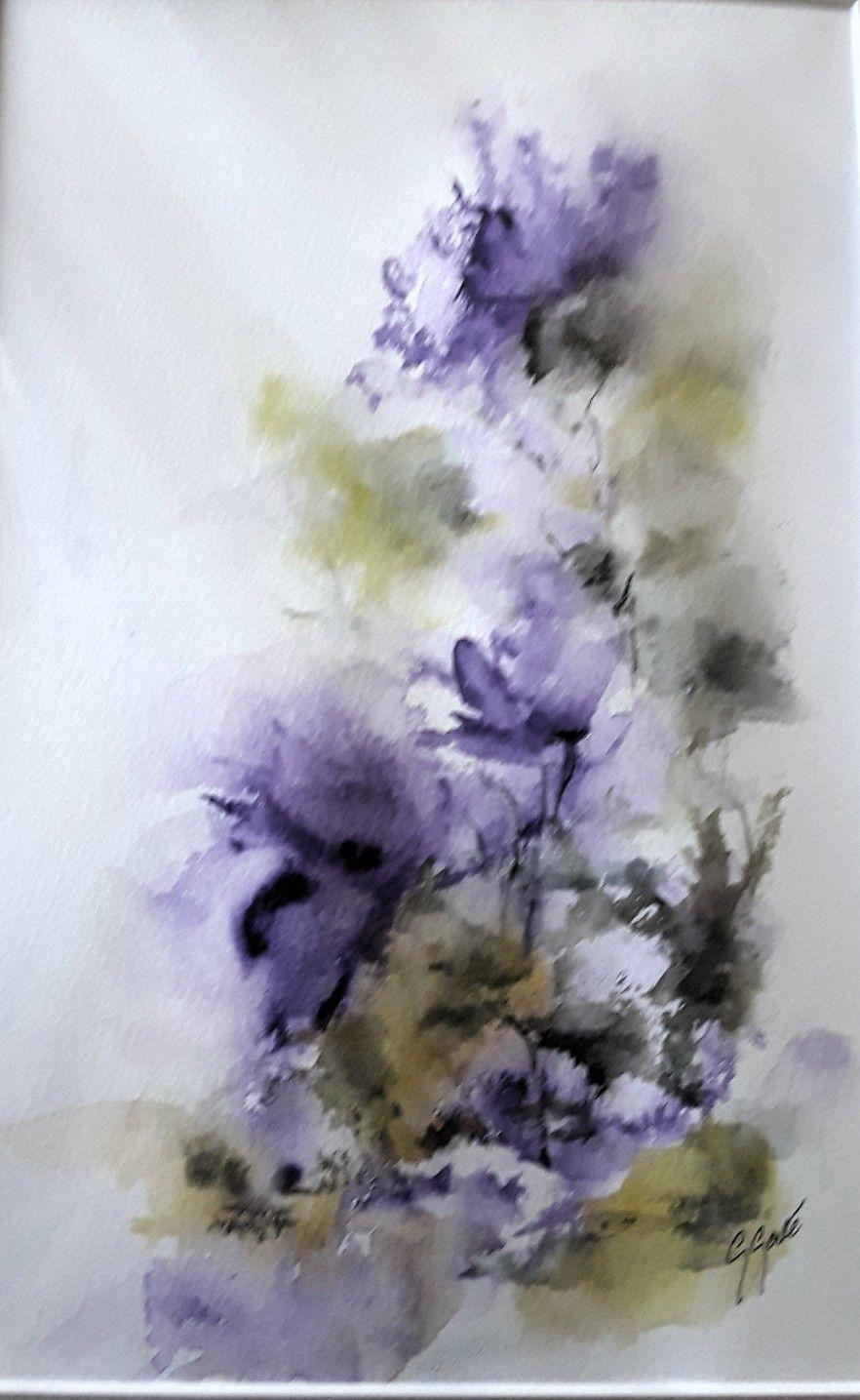 Fleurs Abstraites Aquarelle Flores Abstractas Cuadro De Flores