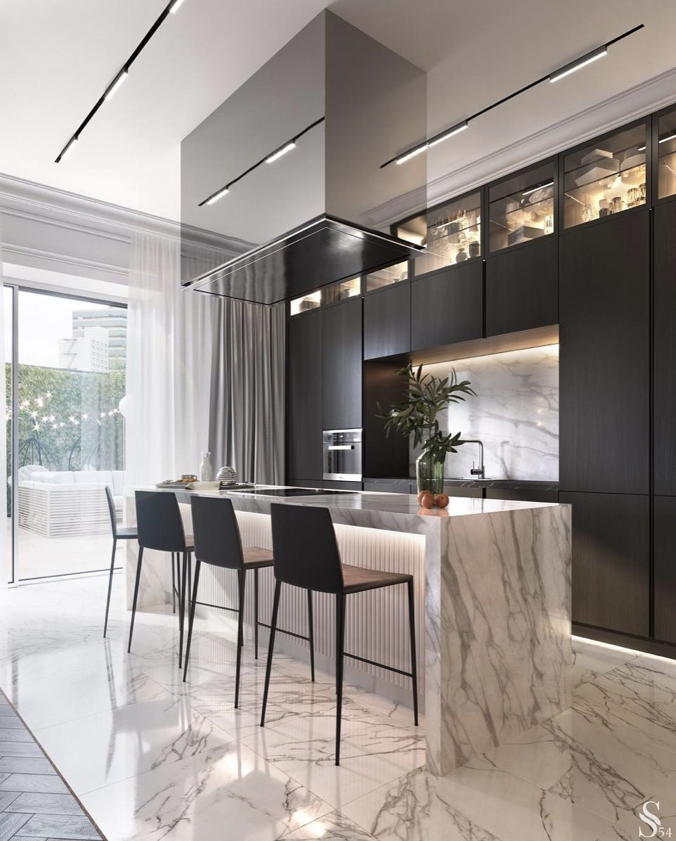 S T Y L E D For L I V I N G On Instagram S L E E K M O D E R N Stunning Kitchen Design By S Modern Kitchen Design Kitchen Room Design Home Decor Kitchen