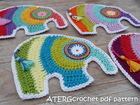 Crochet pdf pattern elephant by ATERGcrochet | Pinterest | El ...