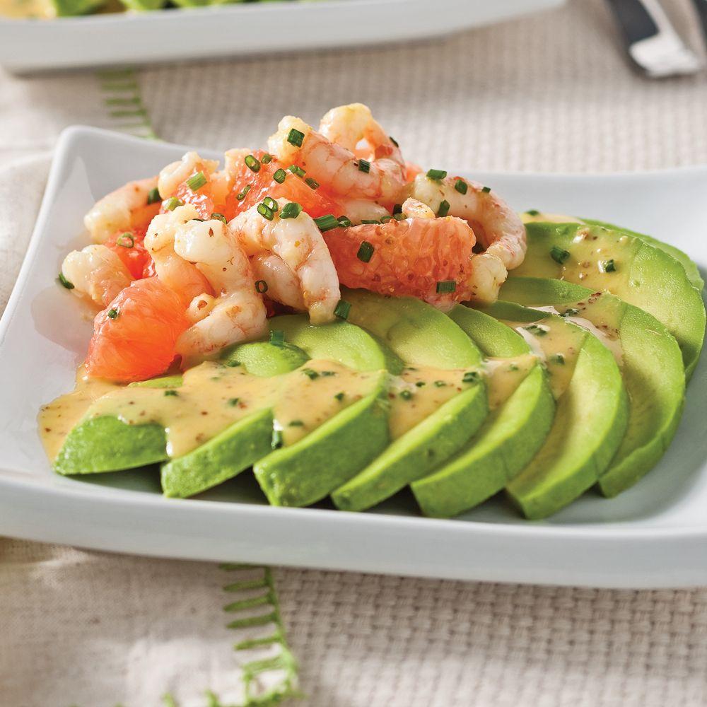 salade d 39 avocats crevettes et pamplemousse recettes sant s pinterest recette express le. Black Bedroom Furniture Sets. Home Design Ideas