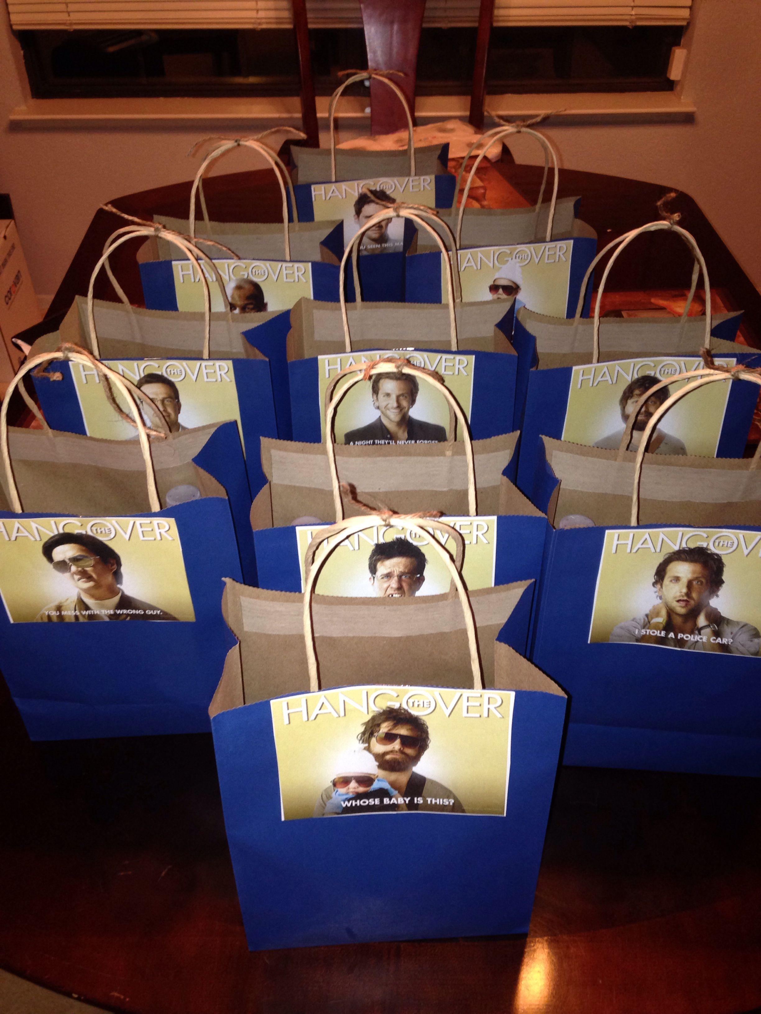 DIY Hangover survival kits for his bachelor party! Alka seltzer