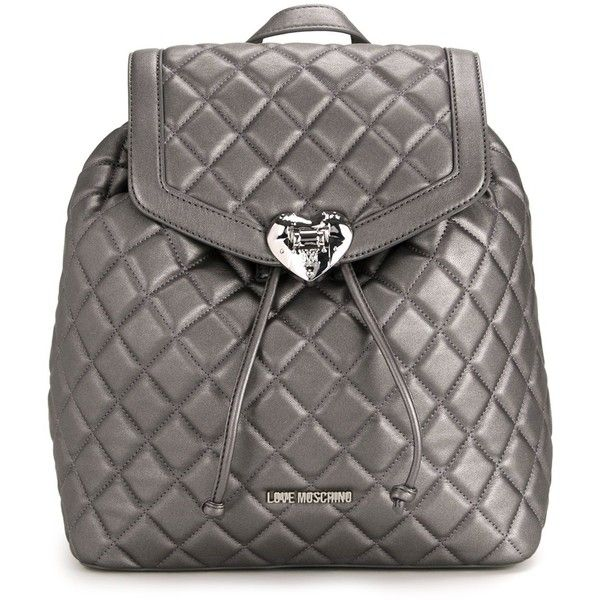 Love Moschino quilted backpack (€300) ❤ liked on Polyvore ... : black quilted rucksack - Adamdwight.com