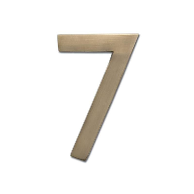 Architectural Mailboxes 3582 7 4 Inch Tall Solid Brass House Number 7 Antique Brass Home Accents Address Numbers 7 Architectural Mailboxes House Numbers Solid Brass