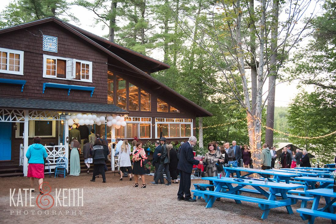 Summer Camp Wedding At Waziyatah In Waterford Maine Natural Outdoor Setting And Lighting