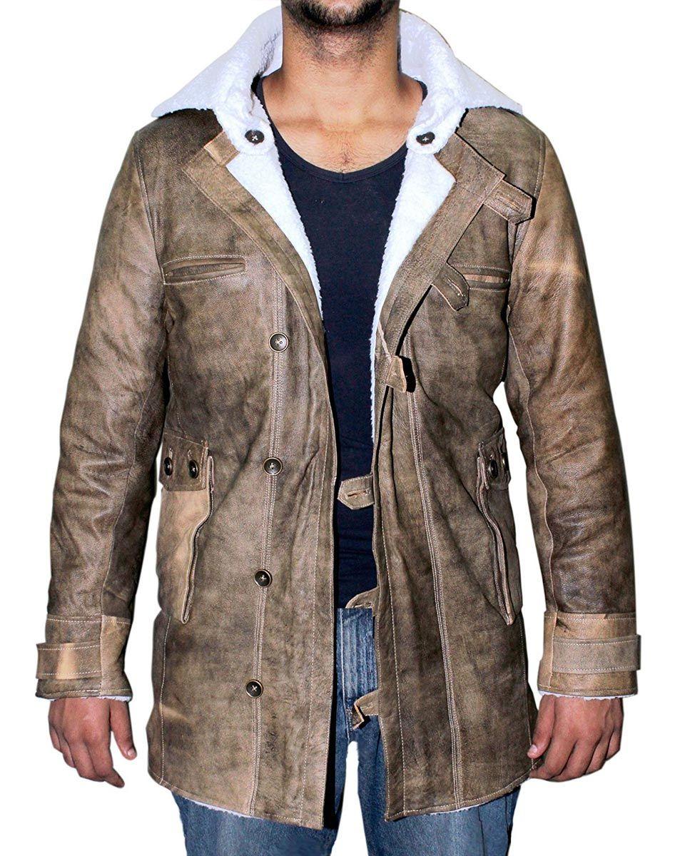 Bane Coat Tom Hardy Dark Knight Rises Leather Coat William Jacket Mens Shearling Bomber Jacket Mens Leather Coats Fur Leather Jacket [ 1200 x 960 Pixel ]