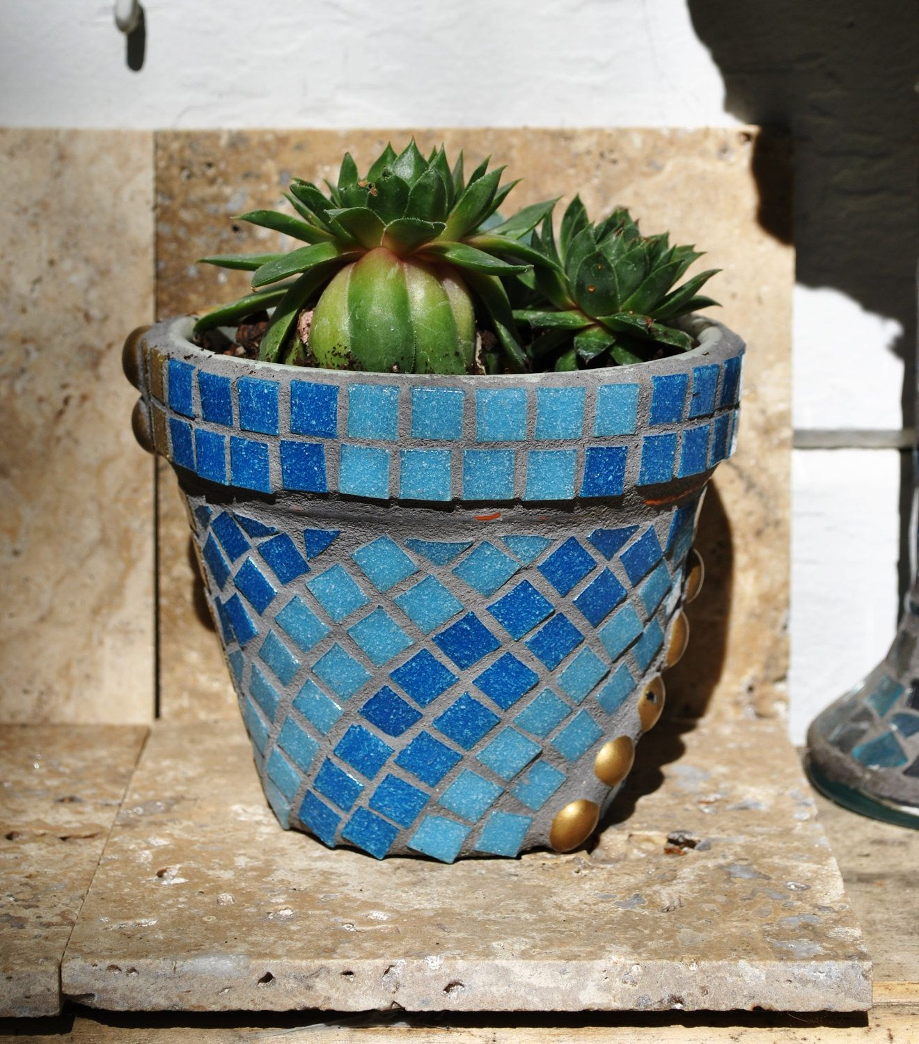 Have Some Old Pots Want To Get Some Bright Mosaic Tile To Do This